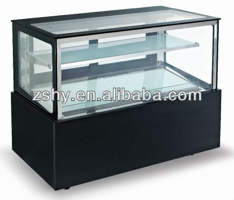 tabletop mini oval cheese cake display cooler for bakery shop