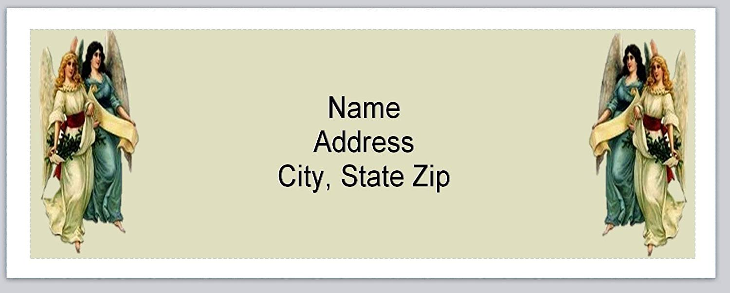 120 Personalized Return Address Labels Primitive Country Angels (BX 591)