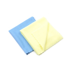 Blue and yellow lace edge 3M microfiber magic cleaning cloth for digital products