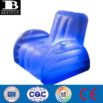 High Strength Pvc Inflatable Blow Up Led Arm Chair Durable