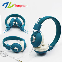 Foldable headphone soft ear cushion headphones wired head phone from manufacturer