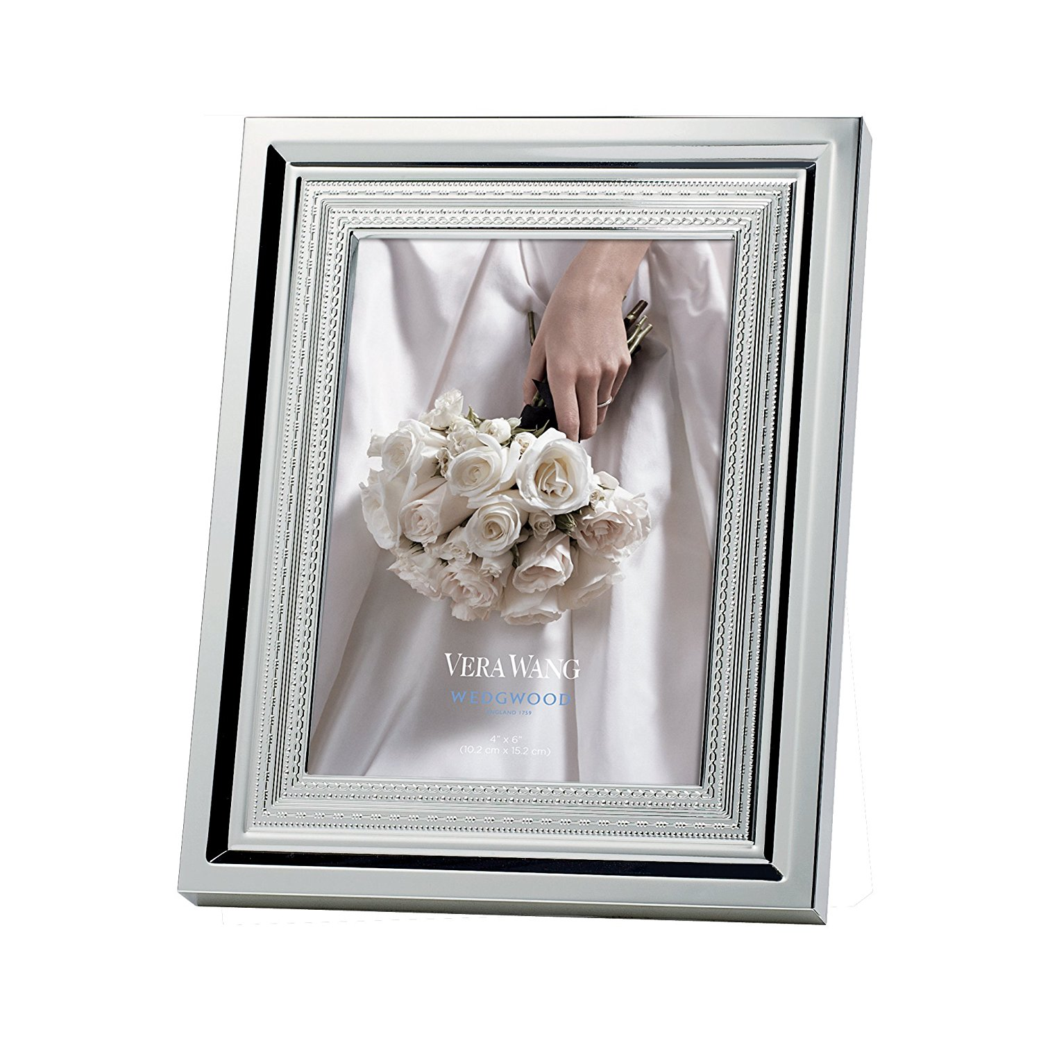 Buy Vera Wang Silverplate With Love Photo Frame Holds 4x6 In Cheap