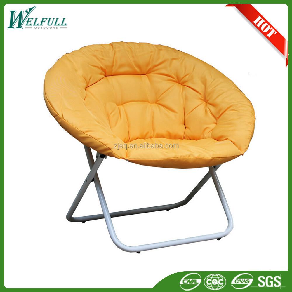 Gros moderne big easy pliable lune ronde chaise pour l 39 ext rieur chaise p - Chaise pliante ronde ...