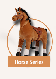 Best pretend plush horse riding toy for kid play