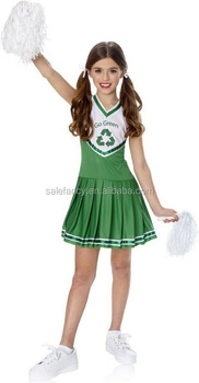kids go green cheerleader costume party city halloween costumes qbc 8324