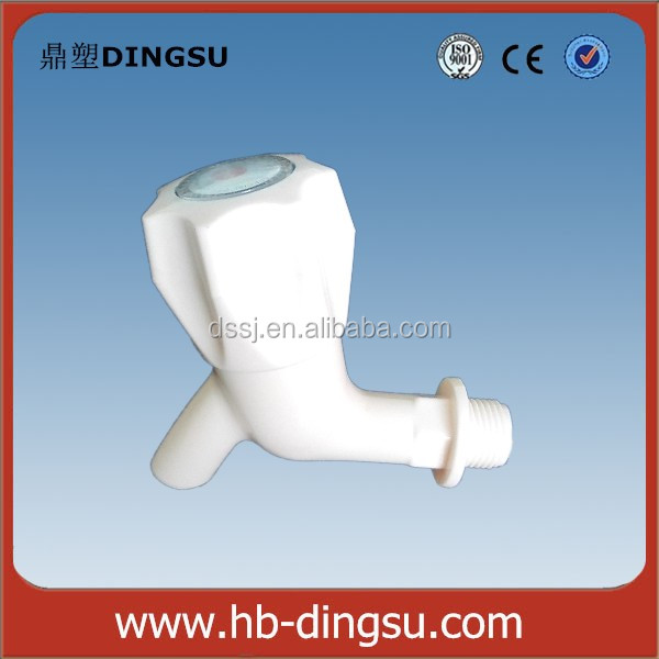 Manufacturing cheapest price stock plastic faucet pvc/pp bibcock abs water tap for garden bathroom washing machine