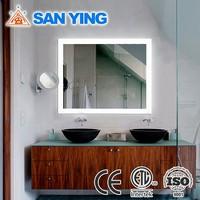 Unique illuminated led illuminated mirror with mirrored sides