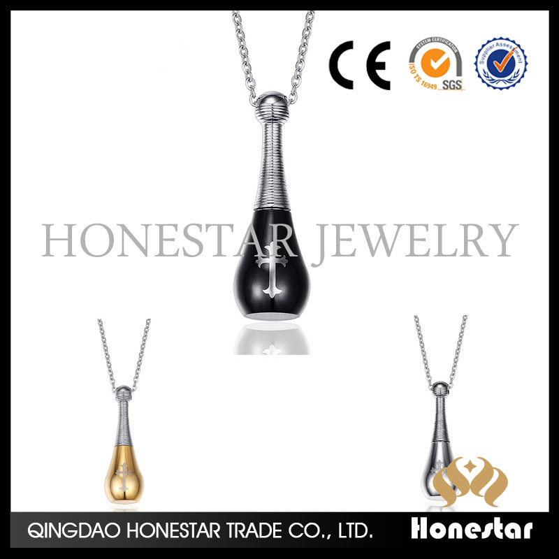 laser cross necklace Japan and South Korea fashion jewelry perfume bottles necklace neck jewelry