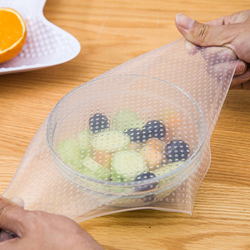 Fresh Keeping Eco Reusable Silicone Food Wrap Cling Food Wrap Stretch Film