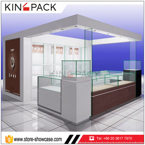 High end MDF wood promotional watch store shopping mall kiosk design for  casio watch display stand