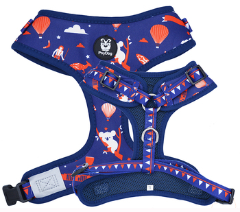Hot sale custom pattern super comfort neck adjustable dog harness