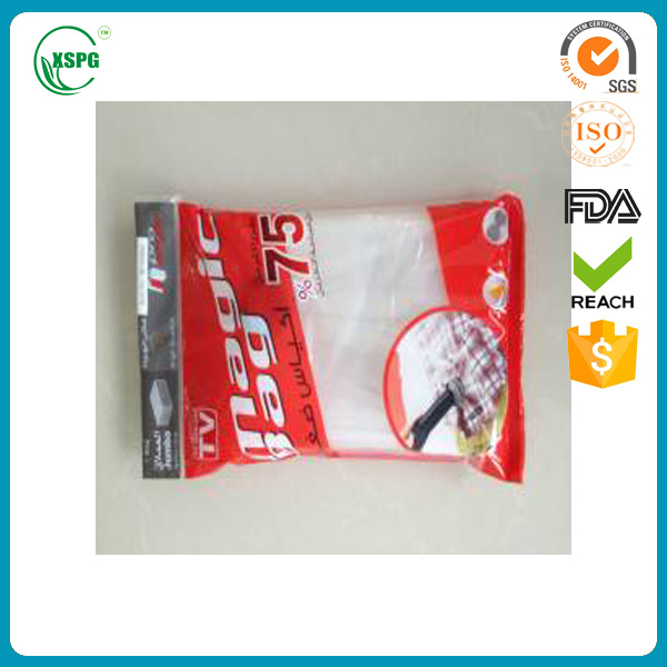 Producing clothes packaging vacuum bag