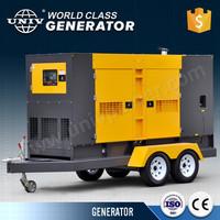 over 10 year OEM factory silent diesel generator on trailer