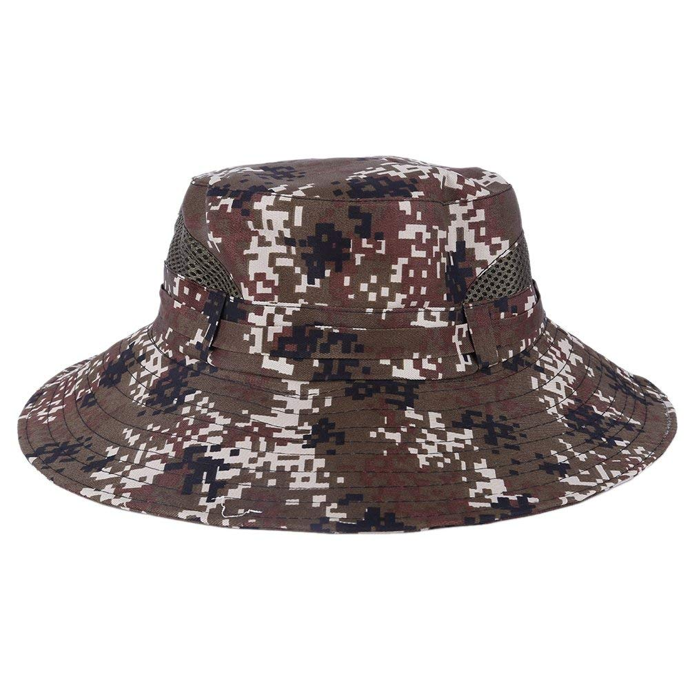 Get Quotations · Wingbind Camo Sun Hat with String Summer Fishing Hat  Outdoor Bucket Hat Wide Brim Breathable Moisture 79f50755622a