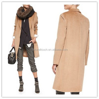 New Italy fashion high qualit full length fitted women cashmere wool coat/ladies casual woolen coat NT136