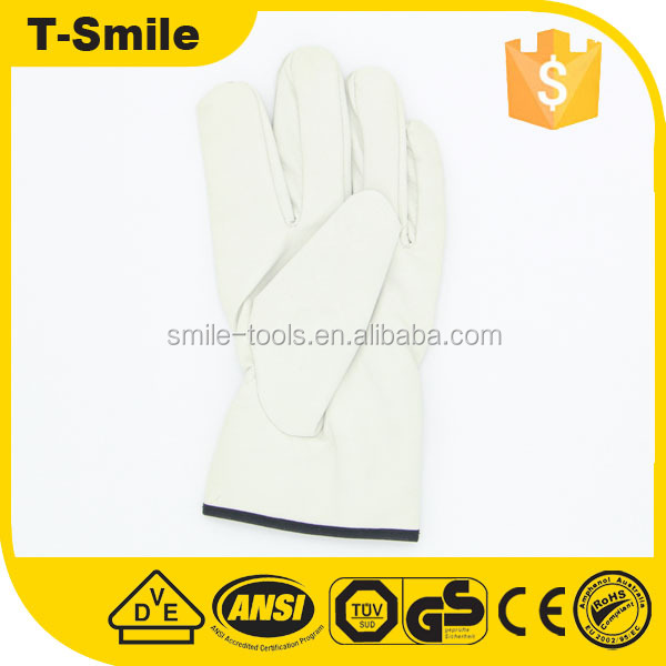 23cm flexible customized big hands hot sell fibre liner welding gloves from china