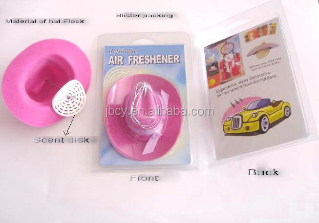 2015 Hot sale hanging cowboy hat air freshener for car