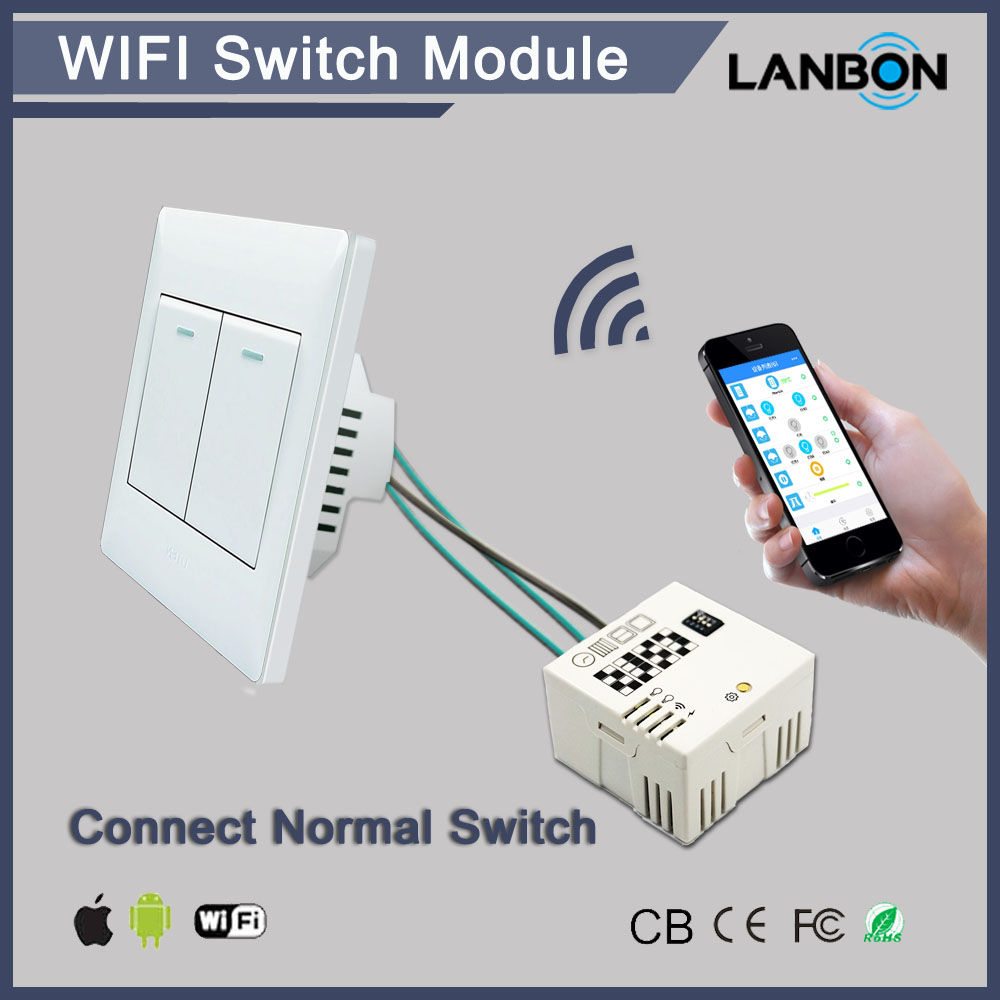 Normal Light Switch Connect To Lanbon Wifi Switch Module Can Control ...