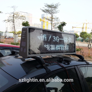led taxi/car roof display advertising screens for car