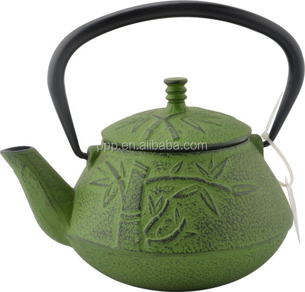 0.8LBamboo Leaf shaped Cast Iron Tea Kettles