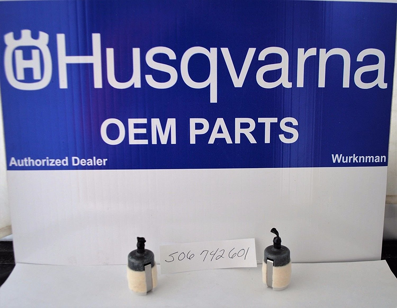 2 Pack Genuine Oem 506742601 Fuel Filters For Husqvarna & Redmax