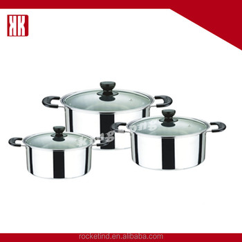 6pcs kitchen parini cookware sets stainless steel cooking for Buy kitchen cookware