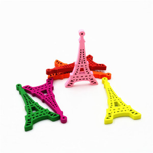 Latest hot tower style cartoon style wooden decorative accessories wooden ornaments, wooden accessories