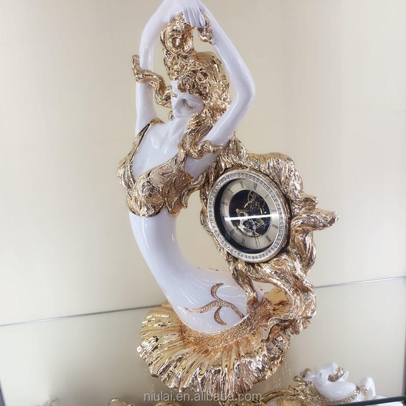 diseo nico hogar decorativo belleza hold polyresin escritorio relojes de engranajes