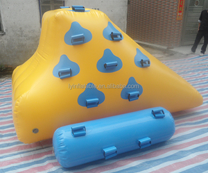 High Quality Outdoor Toy Small Floating Iceberg Air Tight Inflatable Water Slide