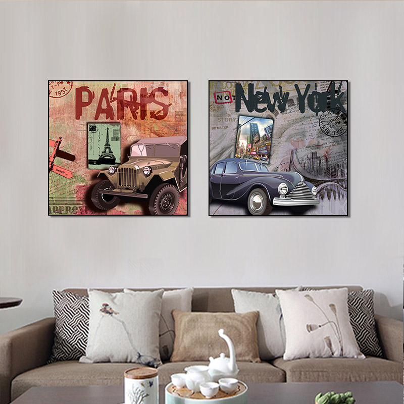 modern Graffiti art canvas painting banksy abstract 2 panel decoration painting for livingroom and hotel