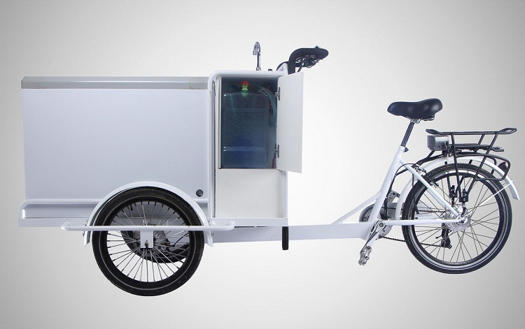 Açık itme içme dondurma soğutucu scooter dondurucu açık bisiklet üreticisi fabrika