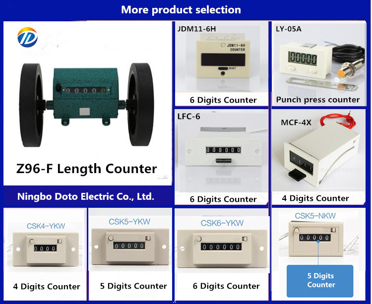 New Length Machine Counters CSK6-YKW  Mechanical Counter DC 12V,DC24V AC 220V,AC110V pulse counter machines