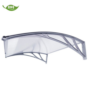 Plastic Sun Shade Awning Supports Solid Polycarbonate Awning Canopies