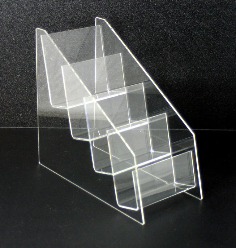 4 Tier Acrylic Brochure/ Leaflet Display Stand ( Holder/rack/shelf ...