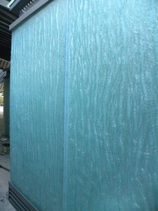 outdoor glass wall