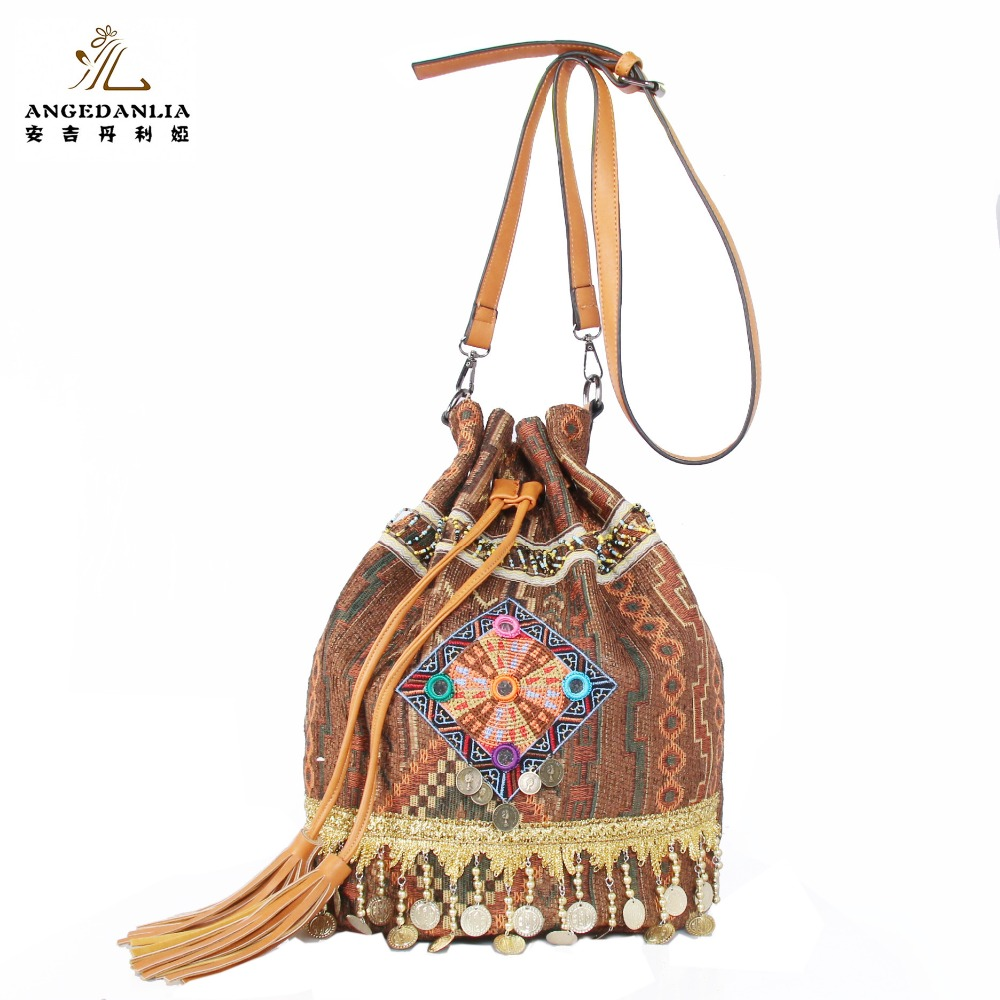 New Arrival Hmong Hill Tribe Bags Naraya Thailand Shoulder Bags Boho Ethnic Bucket Bag Wholesale