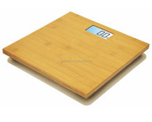 real bamboo unique large LCD nature electronic exotic bathroom scale