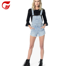 Meisjes overall denim shorts nieuwe mode trends uitsnede vriendin <span class=keywords><strong>jeans</strong></span>