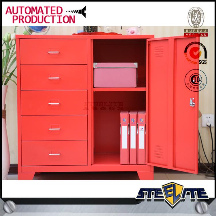 Muebles de sala esquina metal rojo cajones del gabinete de ...