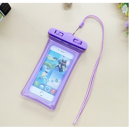 high quality floating gasbag mobilephone waterproof transparent luminous outdoors fits portable PVC bag