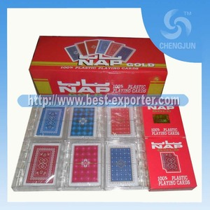 2015 high quality NAP 100% plastic playing card
