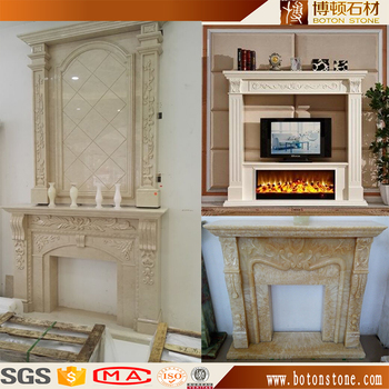 European Large Electric Fireplace Tv Stand With Decorative Fake