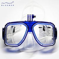 Wonderful Durable Scuba Diving Mask and Snorkel Colorful Swimming Goggles for adults with go pro camera mount