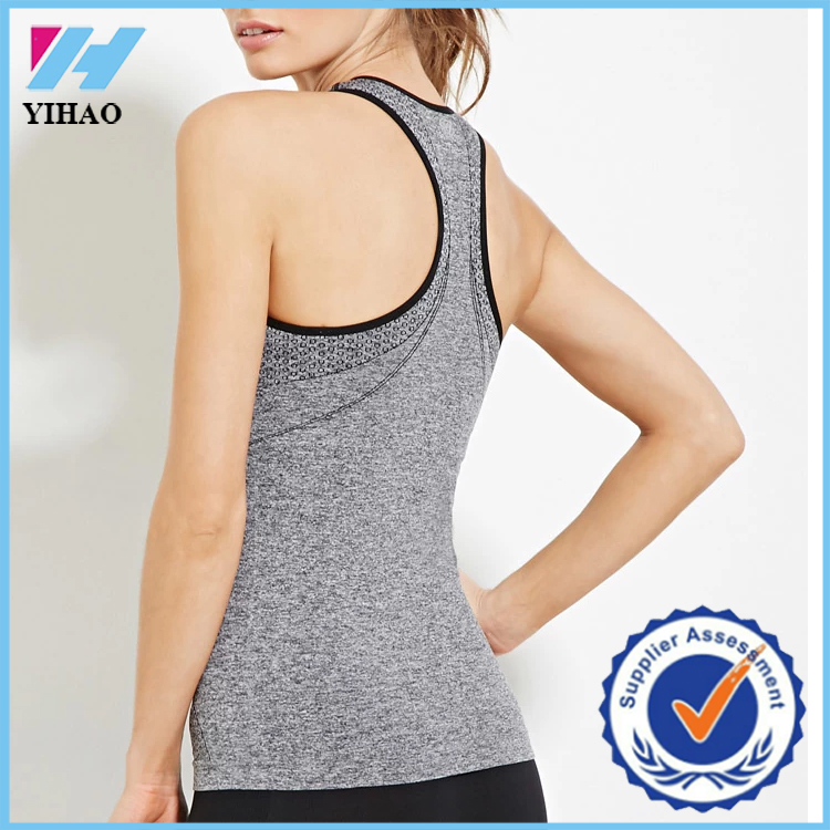 SEAMLESS womens workout tank top/loose fitting gym tank tops&singlets ,screen printing vest gym for lady hot selling singlet