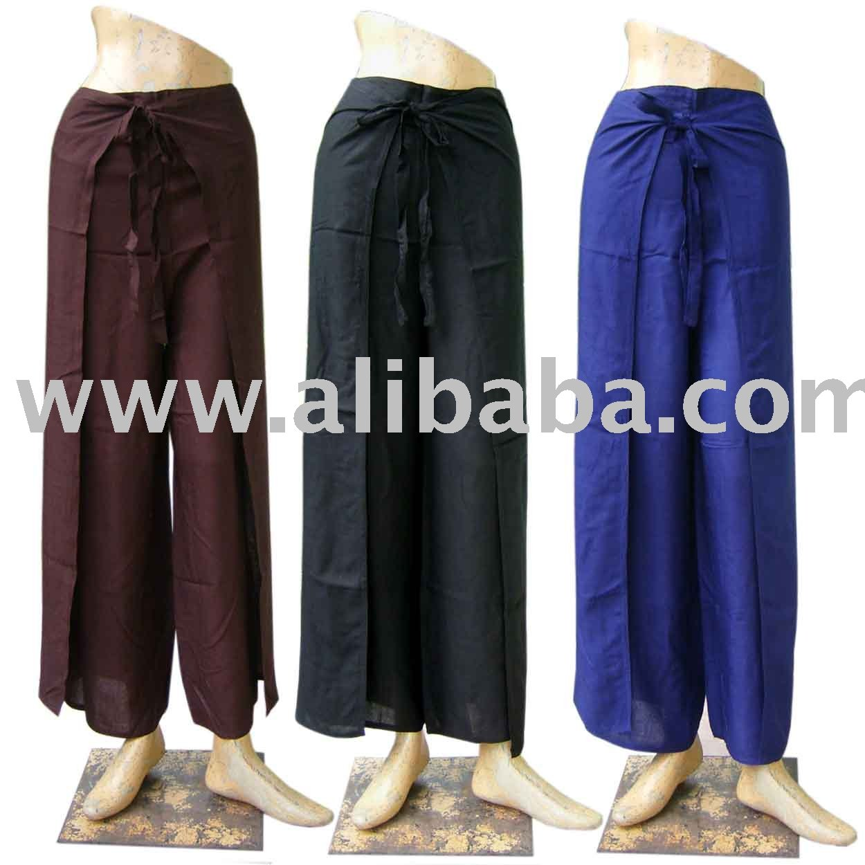 Sarong Pantalones Hippie Normal Rayón Abrigo Tailandés 0gwqTq
