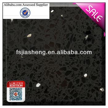 Black Quartz Stone Countertop Floor Tile Cheap - Buy Quartz Stone ...