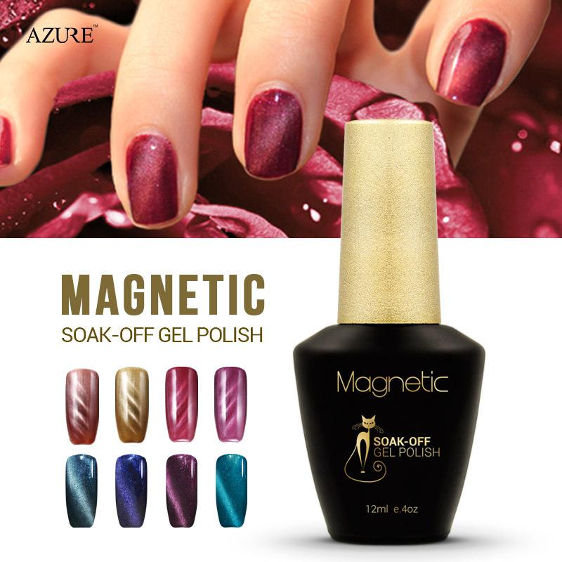 Brand Azure Magnet Gel Soak Off Uv Gel Polish Cat Eyes Nail Gel Uv