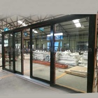 Entrance aluminum sliding doors energy saving large sliding door motor