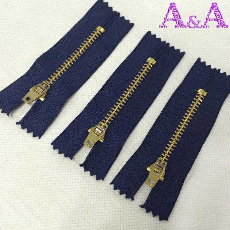 #3 #5 good quality metal zipper,gold metal zipper roll, brass zipper