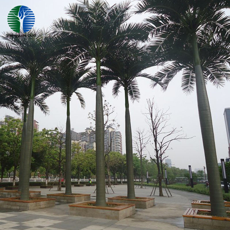 guangzhou supplier Outdoor anti-UV artificial king coconut tree